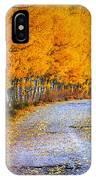 Road Between Trees IPhone Case