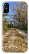 Road In Woods Autumn 4 A IPhone Case