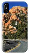Road Through Red Canyon State Park IPhone Case
