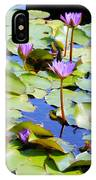 Road To Hana Water Lilies IPhone Case
