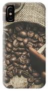 Roasted Coffee Beans In Close-up  IPhone Case
