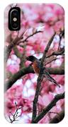 Robin In Magnolia Tree IPhone Case