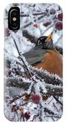 Robin Perched In Crabapple Tree IPhone Case