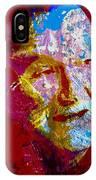 Robin Williams Paint Splatter IPhone Case