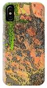 Rock And Shrub Abstract I  IPhone Case