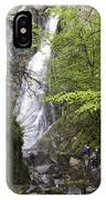 Rock Climbers At Graymare's Tail Falls IPhone Case