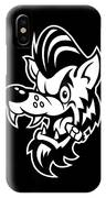 Rockabilly Wolf Head IPhone X Case