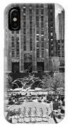 Rockefeller Center Plaza IPhone Case