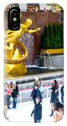 Rockefeller Center Skating Rink New York City IPhone Case