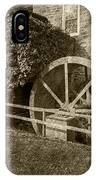 Rockland Grist Mill - Sepia IPhone Case