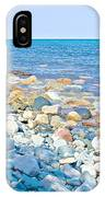 Rocky Lake Superior Shoreline Near North Country Trail In Pictured Rocks National Lakeshore-michigan IPhone Case