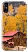Rocky Mountain Autumn Ranch Landscape IPhone Case