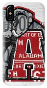 Roll Tide Alabama Crimson Tide Recycled State License Plate Art IPhone Case