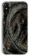 Rolled Barbed Wire-signed-#1936 IPhone Case