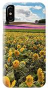 Rolling Hills Of Flowers In Summer IPhone Case