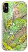 Rolling Patterns In Greens IPhone Case
