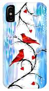 Romance In The Snow IPhone Case