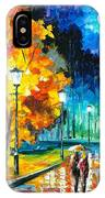 Romantic Night 2 - Palette Knife Oil Painting On Canvas By Leonid Afremov IPhone Case
