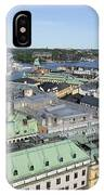 Rooftops Of Stockholm IPhone Case