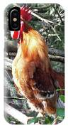 Rooster Crowing IPhone Case