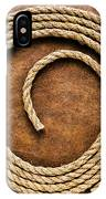 Rope On Leather IPhone Case