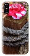 Rope Pillar And Camellia IPhone Case