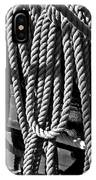 Ropes For The Rigging Bw 1 IPhone Case