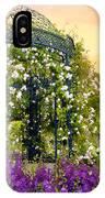 Rose Arbor At Sunset IPhone Case