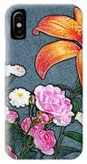 Rose Baby Breath And Lilly IPhone Case