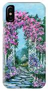 Rose-covered Trellis IPhone Case
