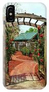Rose Garden Entrance IPhone Case