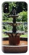 Rose Garden Fountain IPhone Case