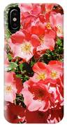 Rose Garden Pink Roses Botanical Landscape Baslee Troutman IPhone Case