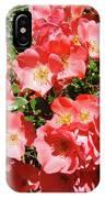 Rose Garden Pink Roses Botanical Landscape Baslee Troutman IPhone Case