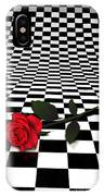 Rose On Black And White #0073 IPhone Case