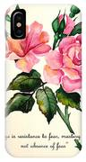 Rose Poem IPhone Case