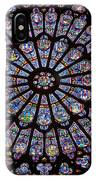 Rose Window At Notre Dame Cathedral Paris IPhone Case