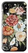 Roses And Poppies Bouquet IPhone Case