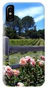 Roses At Rusack Vineyards IPhone Case