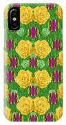 Roses Dancing On A Tulip Field Of Festive Colors IPhone Case