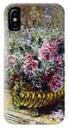 Roses In A Copper Vase IPhone Case