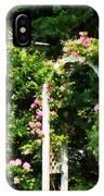 Roses On Trellis IPhone Case