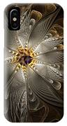 Rosette In Gold And Silver IPhone Case