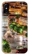 Rossio Square Night IPhone Case