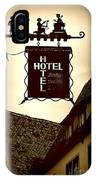 Rothenburg Hotel Sign - Digital IPhone Case