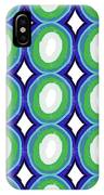 Round And Round Blue And Green- Art By Linda Woods IPhone Case
