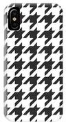 Rounded Houndstooth White Background 09-p0123 IPhone Case