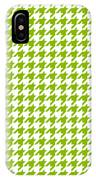 Rounded Houndstooth White Background 18-p0123 IPhone Case