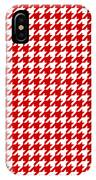 Rounded Houndstooth White Pattern 18-p0123 IPhone Case