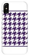 Rounded Houndstooth With Border In Purple IPhone Case